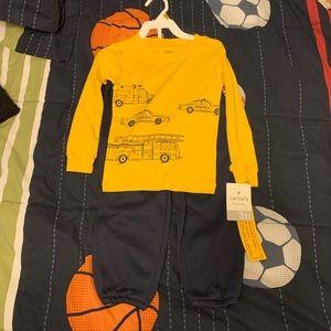 Carter's Boys Police & Fire Shirt & Sweatpants Set